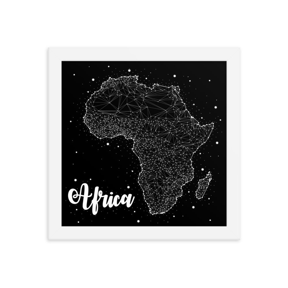 Framed 'Africa' Constellation Poster