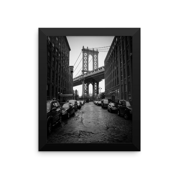 Framed Manhattan Bridge, NYC Original Photographic Print by n.corren conway