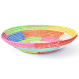 Multicolor Block Pattern Grain Basket
