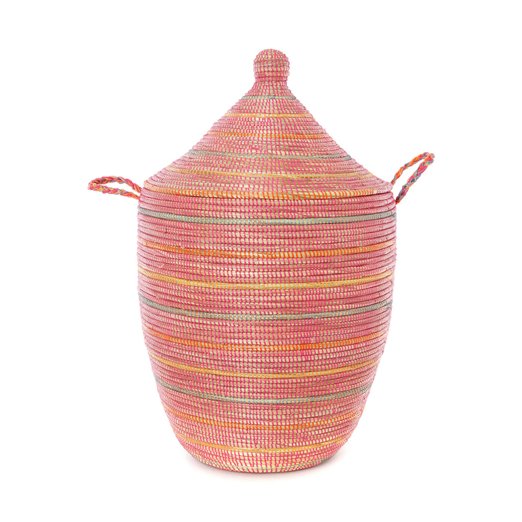 Sunrise Stripes Laundry Hamper Basket - Large