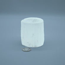 SMALL SELENITE CANDLE HOLDER