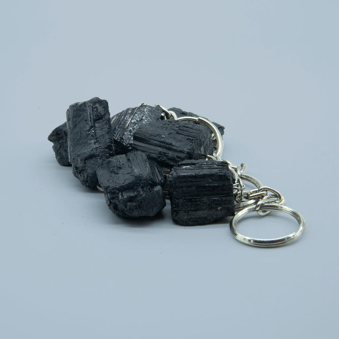 BLACK TOURMALINE KEYRING