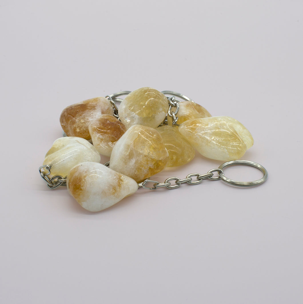 ROUGH CITRINE KEYRINGS
