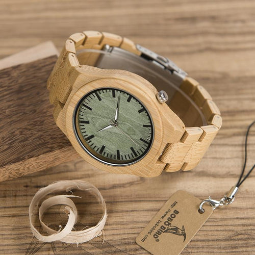 BOBO Green Wood Dial