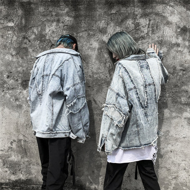 Distressed wash jacket