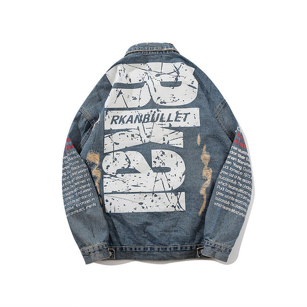 print denim jacket