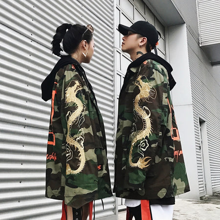 Space Invader Camo Fall Jacket
