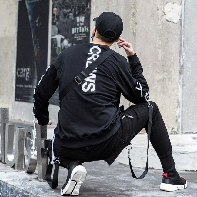 Tactical knotted crewneck