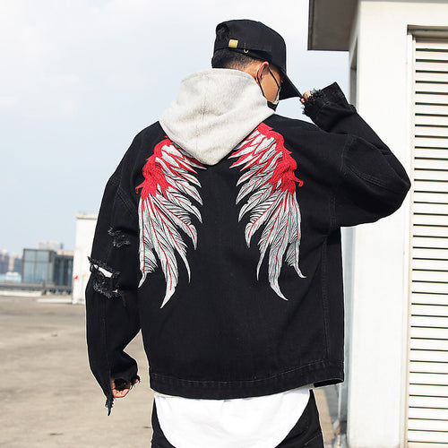 Wing'd denim jacket