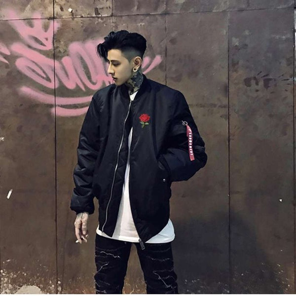 Rose bomber jacket