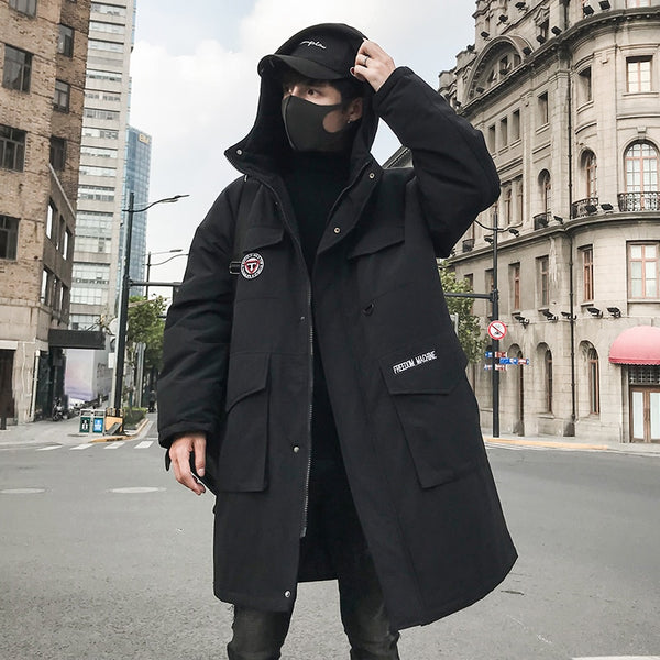 mens hooded parka
