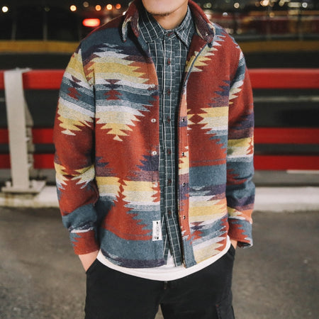 Lava camo denim jacket