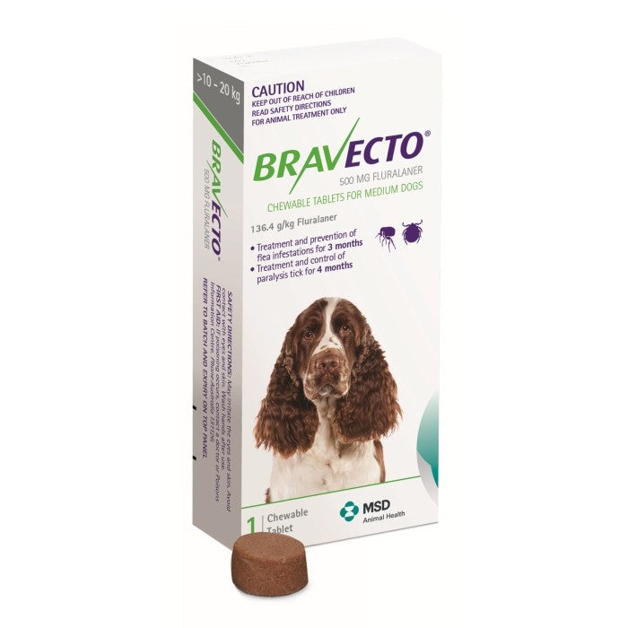 Bravecto Chews for Large Dogs 10-20KG