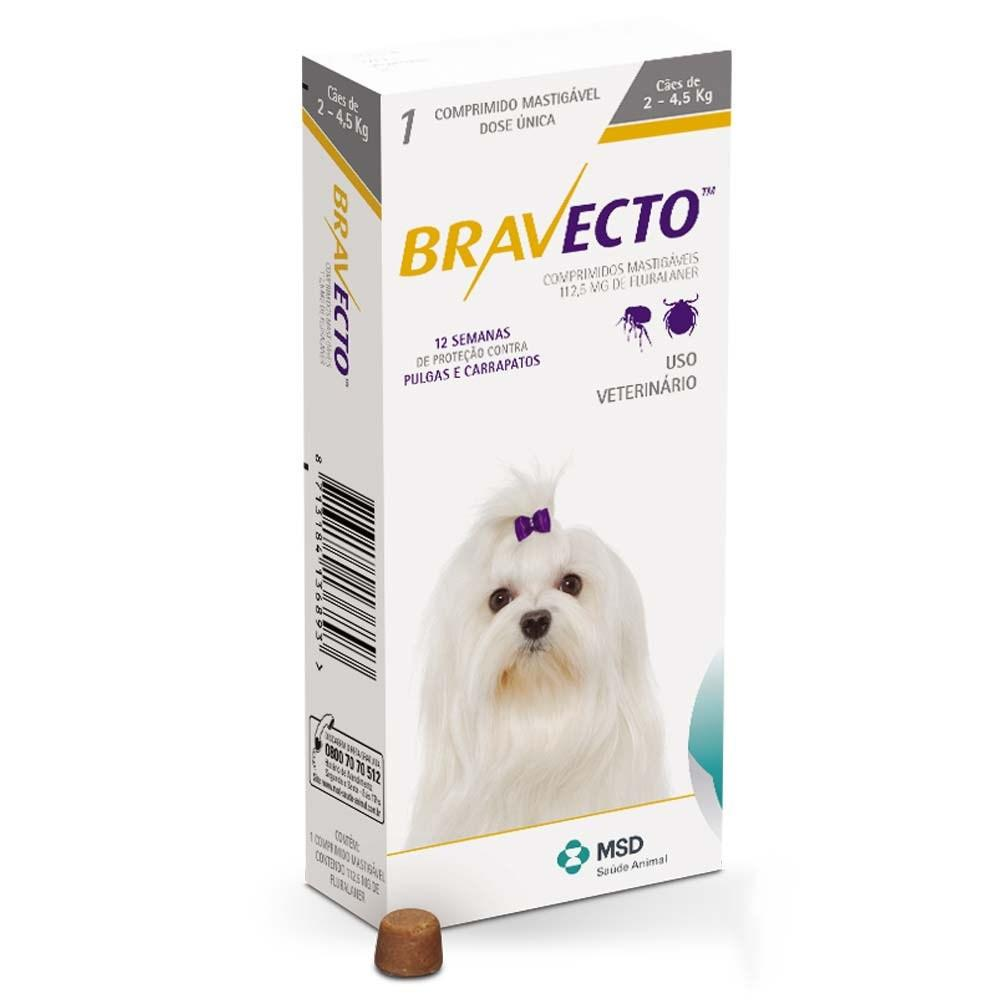 Bravecto Chews for Small Dogs 2-4.5KG