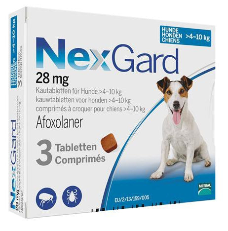 Nexgard Blue for small dogs 9-24lbs (4-10kg) 3 chewable tablets