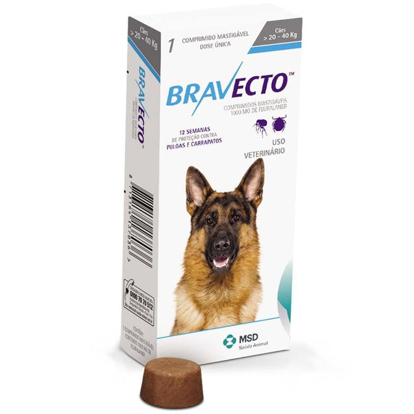 Bravecto Chews for Large Dogs 20-40KG