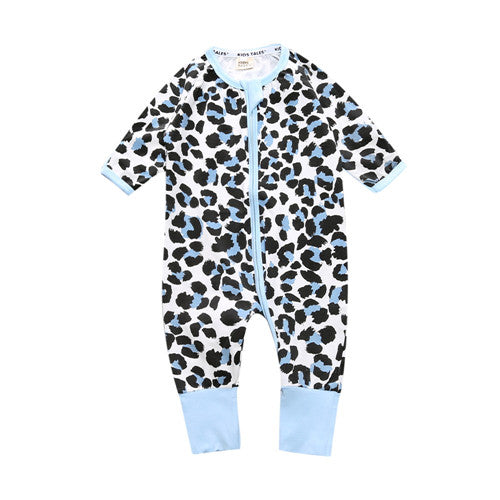 Long Sleeve Leopard Print Jumpsuit