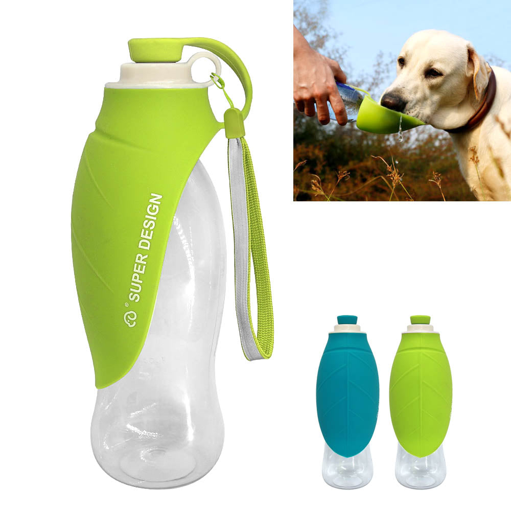Portable Water Bottle With Expandable Silicone Pet Bowl (650ml)