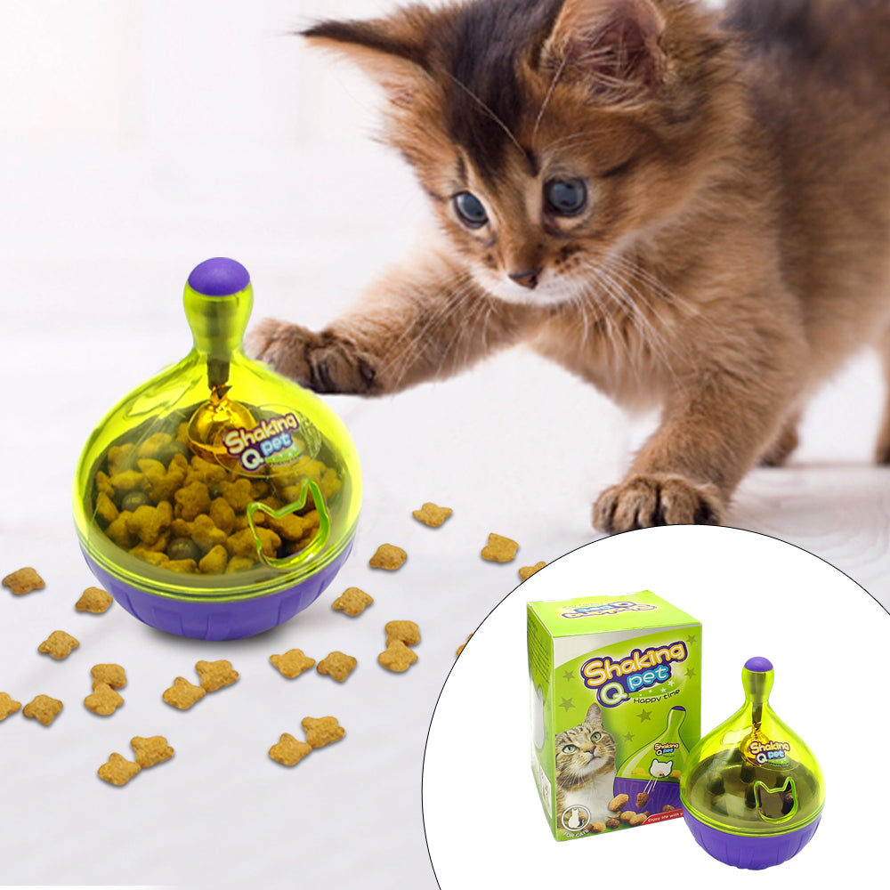 Cat IQ Interactive Treat Ball Puzzle Snack Feeder