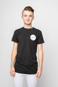 Men's Basic Longline T-Shirt - Black