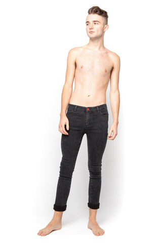 Men's Lot-P Skinny Jeans -  Washed Black