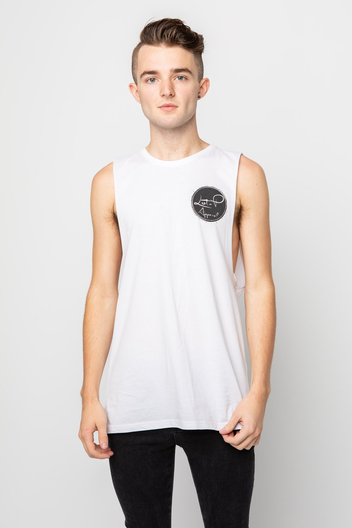 Men's Basic Tank Tee - White