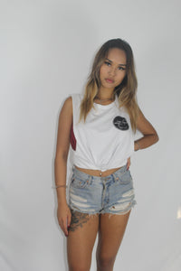 Women's Basic Tank Tee - White