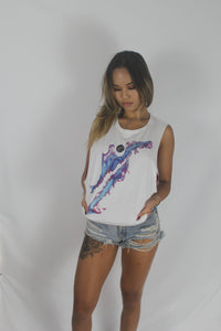 Women's White Tank Tee (Festival Design)