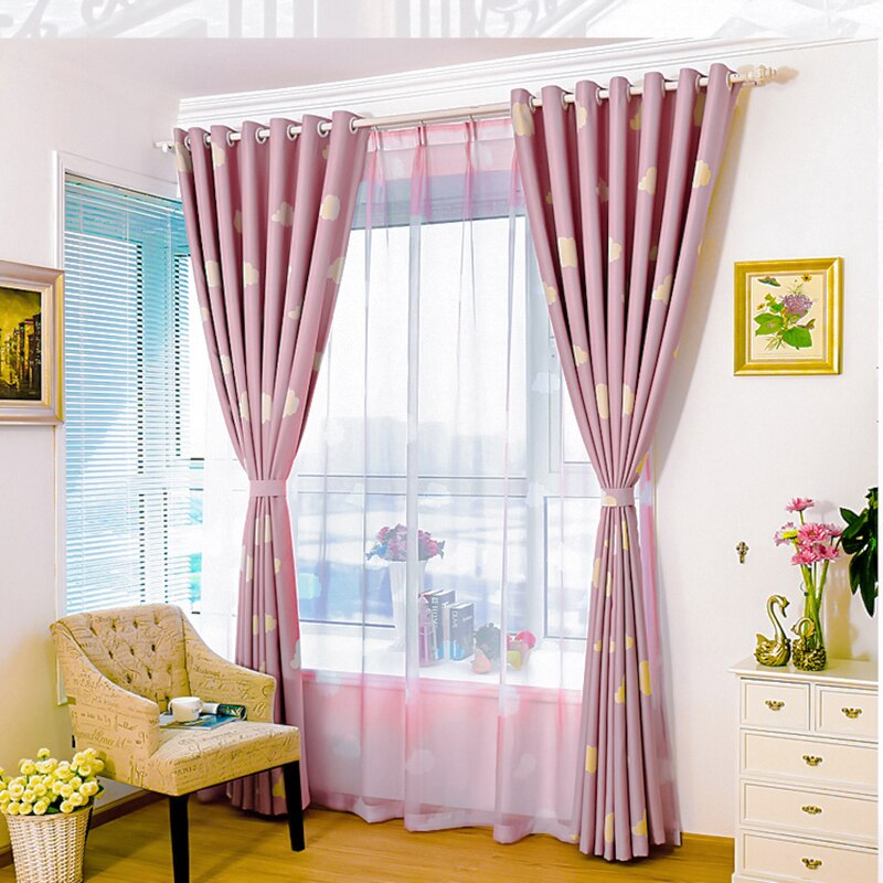 1pc Pink Modern Blackout Curtains Fabric Drapes