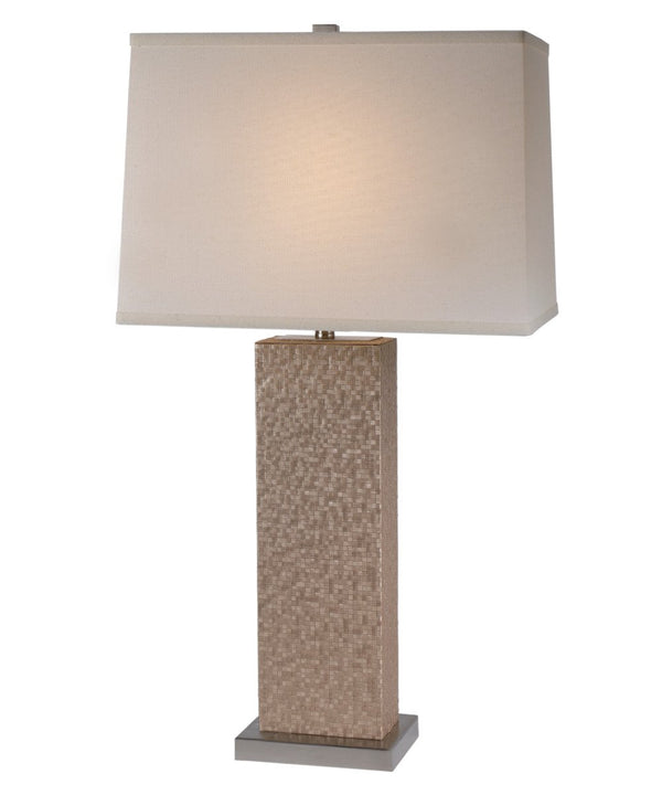 Merge Table Lamp in Brushed Nickel Finish