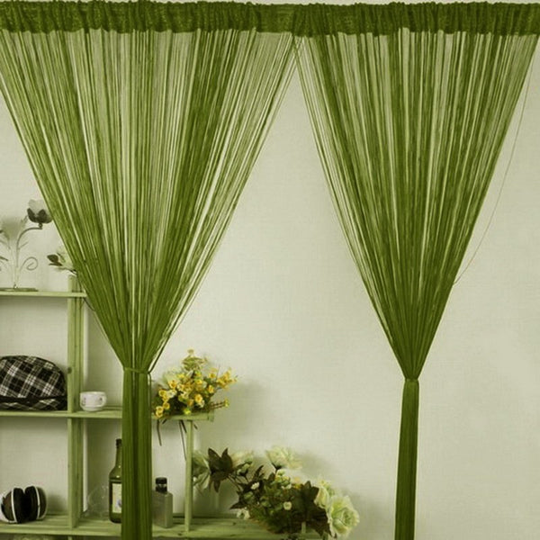 Sheer Textured String Window Curtain