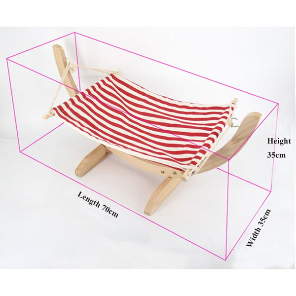 Fashion Wood Cat Hammock Soft Fleece Cotton Rabbit