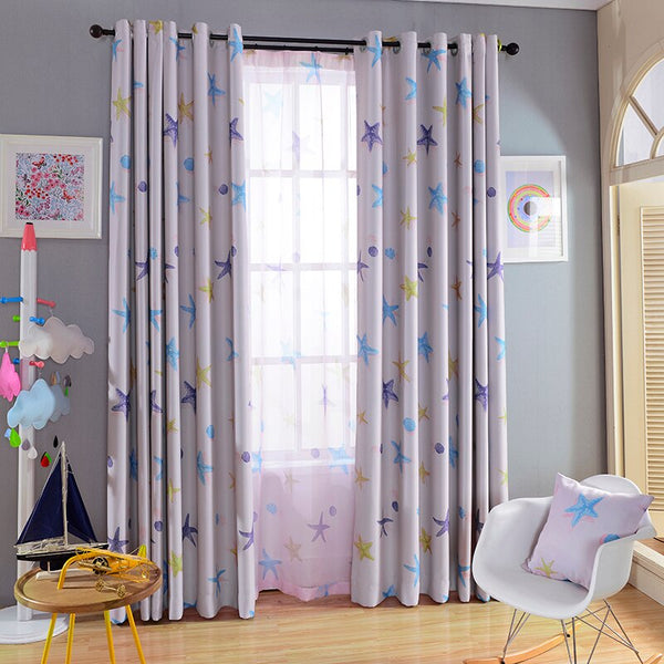 Window Curtain Blackout Sea Blackout Blinds