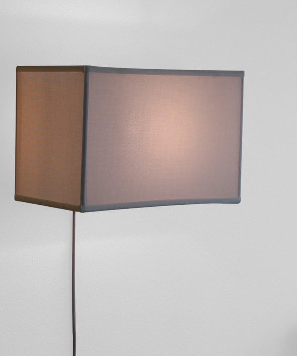 Floating Shade Plug-In Wall Light White (10x16) (10x16) x 11