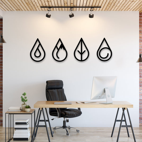 Four Elements Hanging Wall Decoration (Metal)