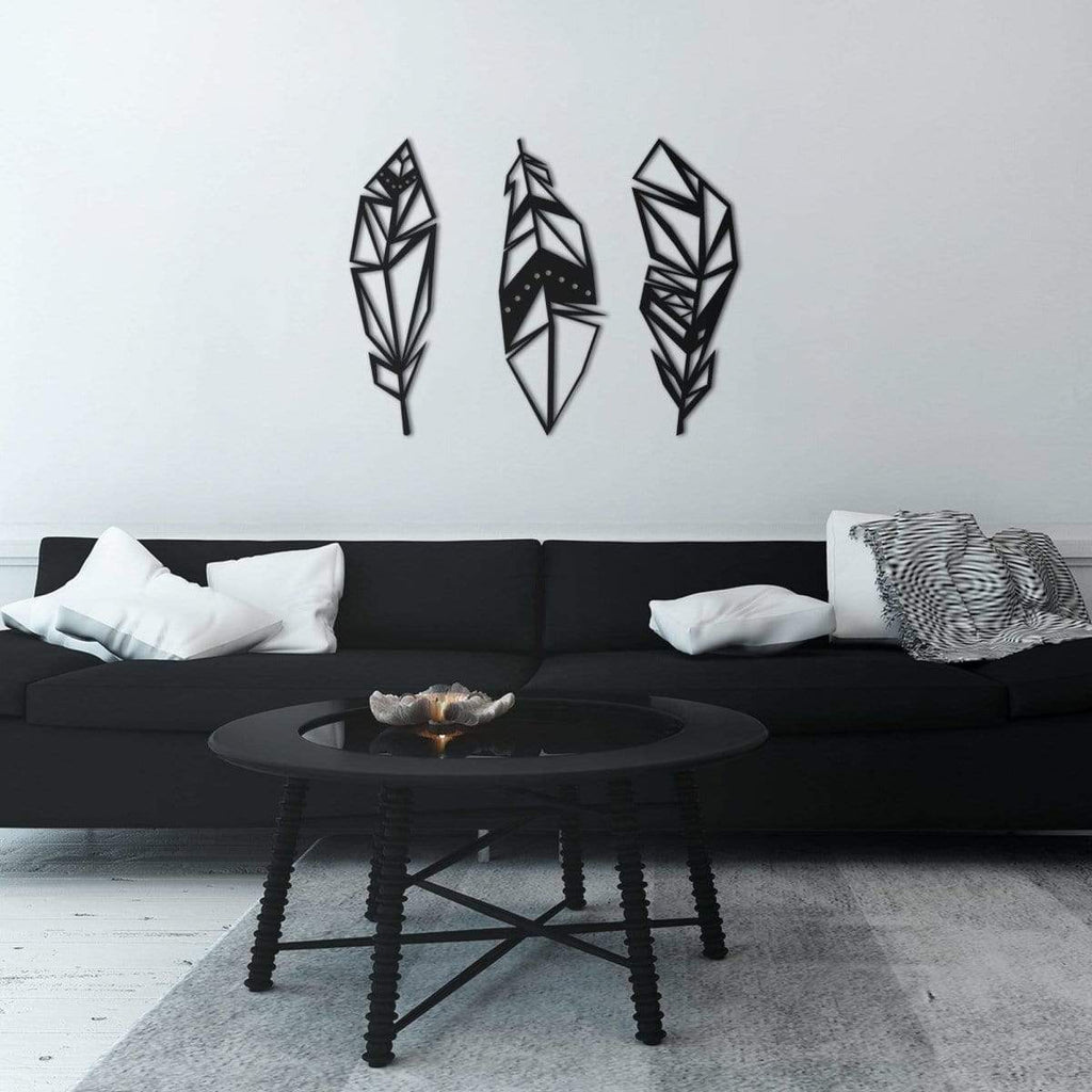 Minimalist GeoFeathers Hanging Wall Decoration Metal ...
