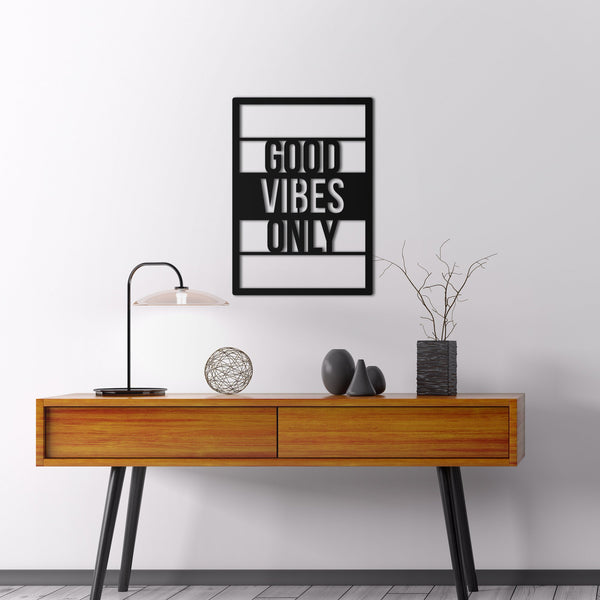 Good Vibes Only Hanging Wall Decoration (Metal)