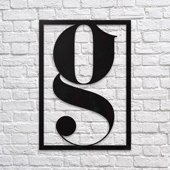 Letter G - Metal Wall Art