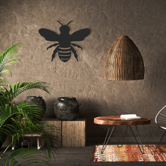 Metal Bee Hanging Wall Decoration