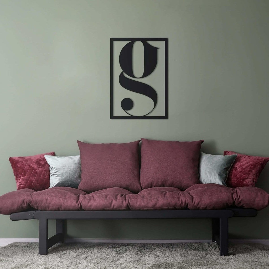 Letter G Hanging Wall Decoration (Metal)
