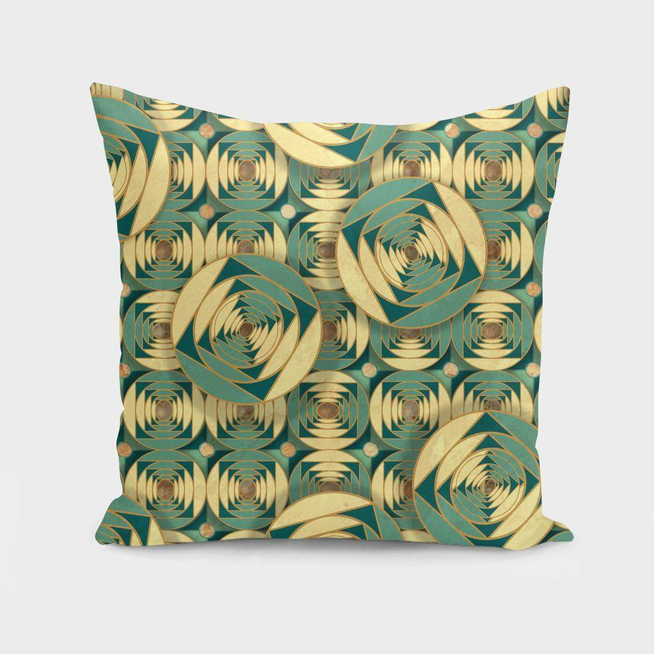 Couch Cushion/Pillow (Green Pattern)