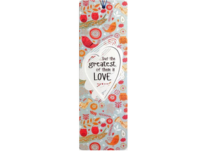 Dual Layer Bookmark:  But The Greatest Of These Is Love - The Tree Stationery & Co. 大樹文房