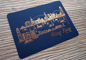Hong Kong Skyline - Night - The Tree Stationery & Co. 大樹文房