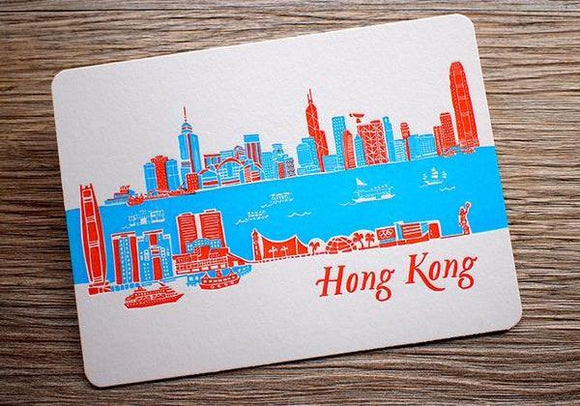 Hong Kong Skyline - Day - The Tree Stationery & Co. 大樹文房