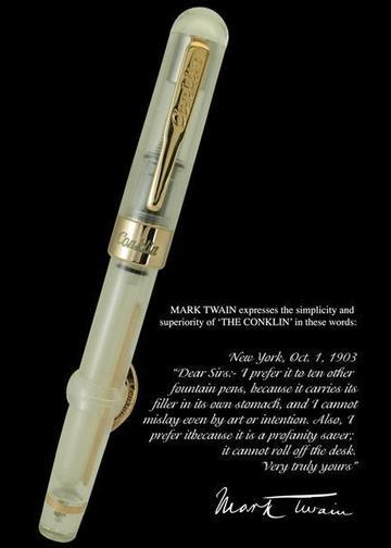 Mark Twain Demo Crescent Limited Edition Fountain Pen (Rose Gold) - The Tree Stationery & Co. 大樹文房