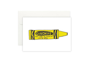 Sunshine Crayon Card 陽光筆卡