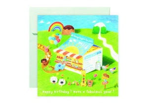 Milk Carton Story Card 牛奶盒甜品店故事卡 - The Tree Stationery & Co. 大樹文房