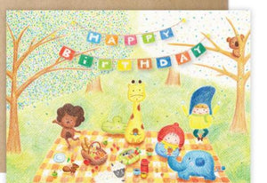 Birthday Picnic Big Card 野餐大大張生日卡 - The Tree Stationery & Co. 大樹文房