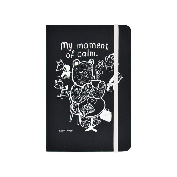Modena x CupOfTherapy Collection (Design From Finland) A5 Notebook/Ruled - Black Bear
