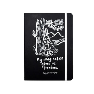 Modena x CupOfTherapy Collection (Design From Finland) B5 Sketchbook - My Imagination Gives Me Freedom